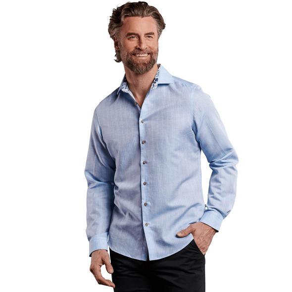Langarmhemd aus hochwertigem Leinenmaterial