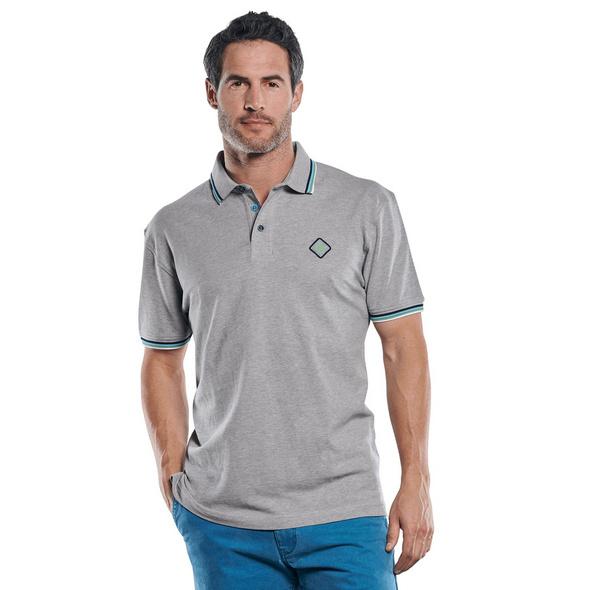 Poloshirt mit raffinierter Kragen und Bündchen Verarbeitung
