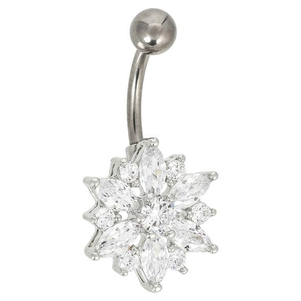 Piercing - Crystal Flower