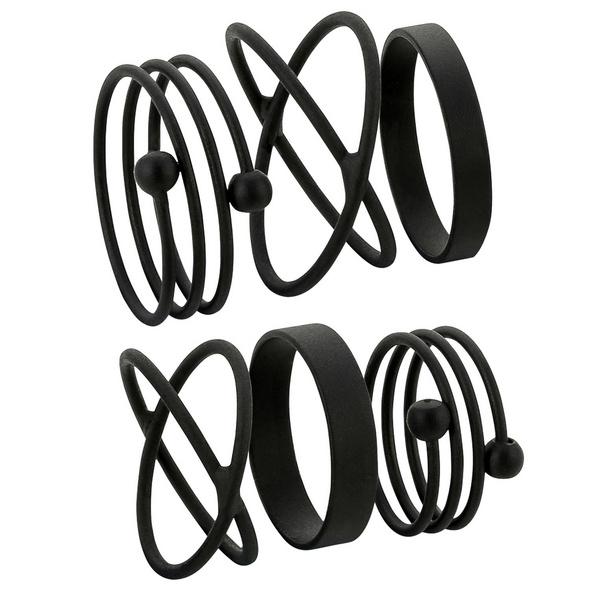 Ring-Set - Black Graphics
