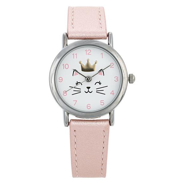 Kinder Uhr - Crowned Cat