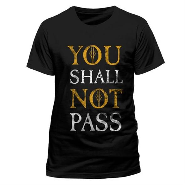 Herr der Ringe - T-Shirt You shall not pass (Größe M)