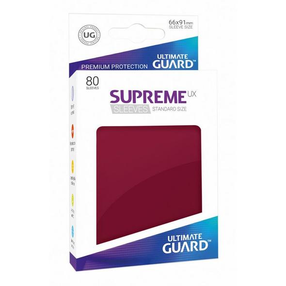 Ultimate Guard Supreme UX Sleeves Standardgröße Burgundrot
