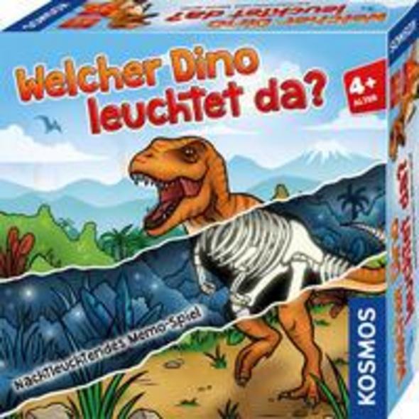 KOSMOS 680701 - Welcher Dino leuchtet da?, Memo Spiel, Mitbringspiel