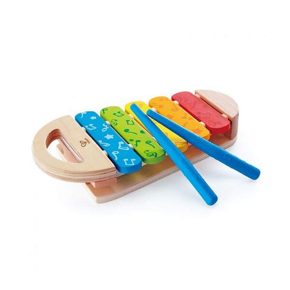 Hape E0606 - Regenbogen Xylophon, Musikinstrument, Glockenspiel