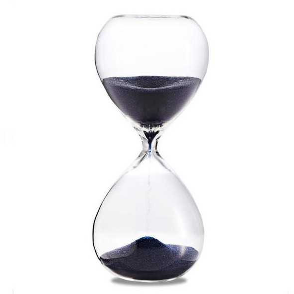 Sanduhr 'Time Out' 5 Minuten , dunkelblau