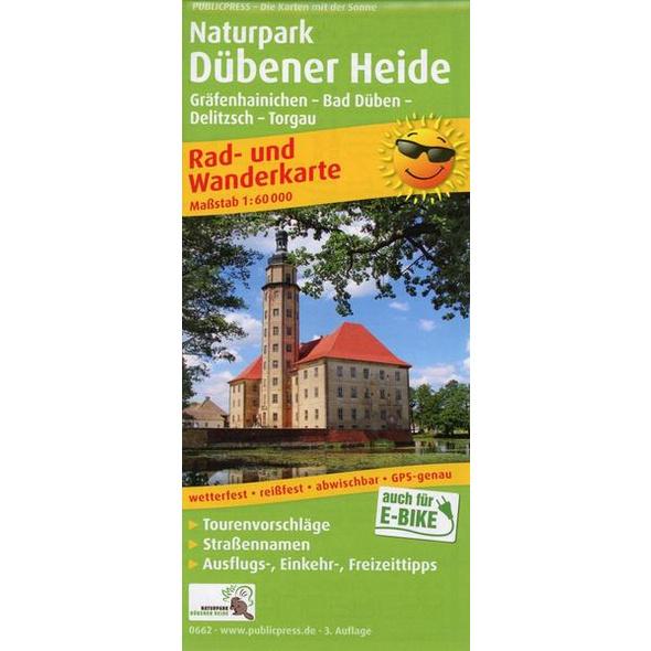 Naturpark Dübener Heide, Gräfenheinichen - Bad Düben - Delitzsch - Torgau 1:60 000