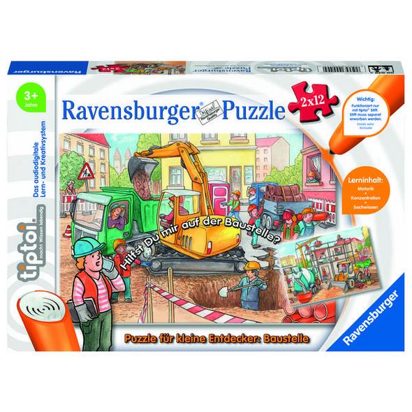 Ravensburger 00049 - tiptoi® Puzzle für kleine Entdecker: Baustelle,