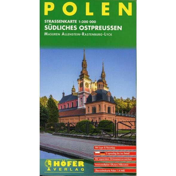 Höfer Polen PL010. Südliches Ostpreußen 1 : 200 000.
