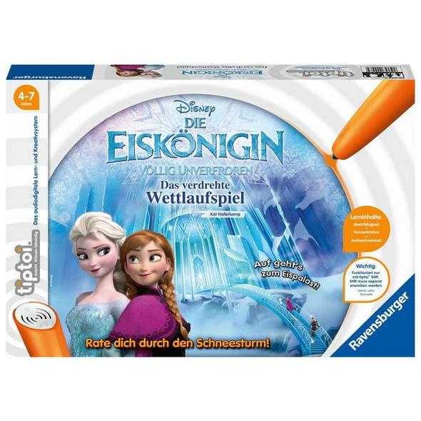 Ravensburger 00007 - tiptoi® Disney, Die Eiskönigin, Das verdrehte Wettlaufspiel, Lernspiel