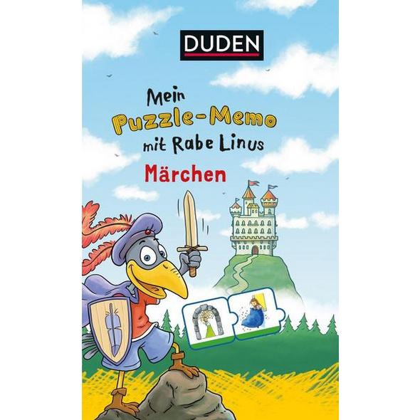 Mein Puzzlememo mit Rabe Linus - Märchen (Kinderspiel)