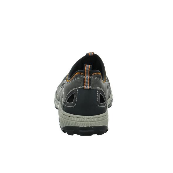 Rieker Herren 08065-02 Grauer Synthetik/Textil Slipper