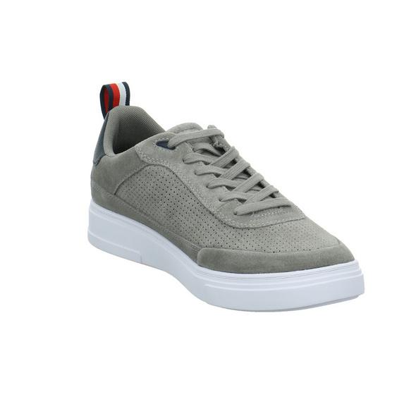 Tommy Hilfiger Herren FM0FM03426PQ8 Grauer Synthetik/Veloursleder Sneaker