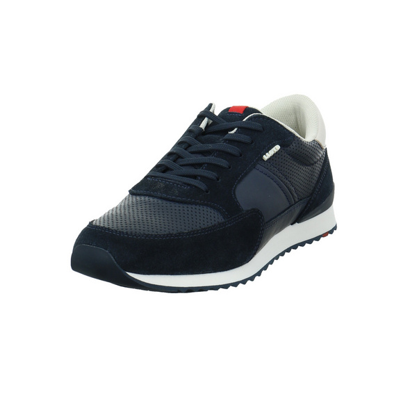 Lloyd Herren Ellard Blau Glattleder Sneaker