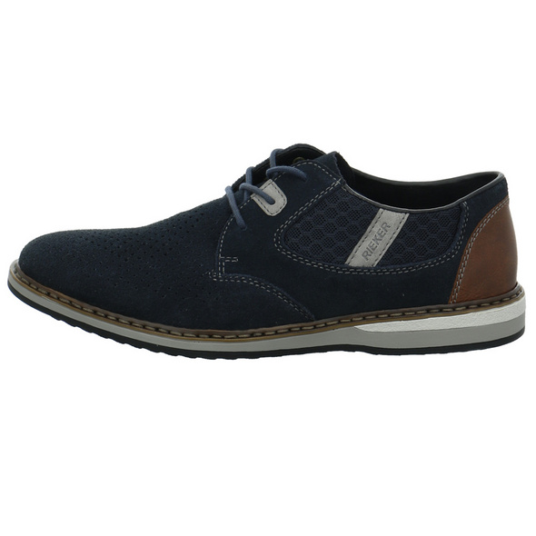 Rieker Herren 16826-14 Blauer Materialkombinierter Sneaker
