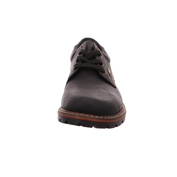 Rieker Herren Schnürschuhe aus Glattleder in schwarz