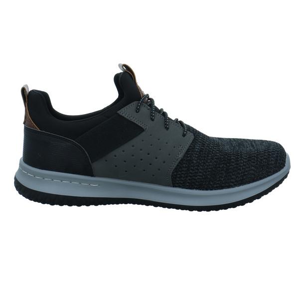 Skechers Herren Delson Camben Schwarze Textil Sneaker