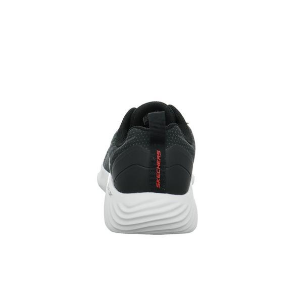 Skechers Herren Bounder Verkona Schwarze Textil Sneaker