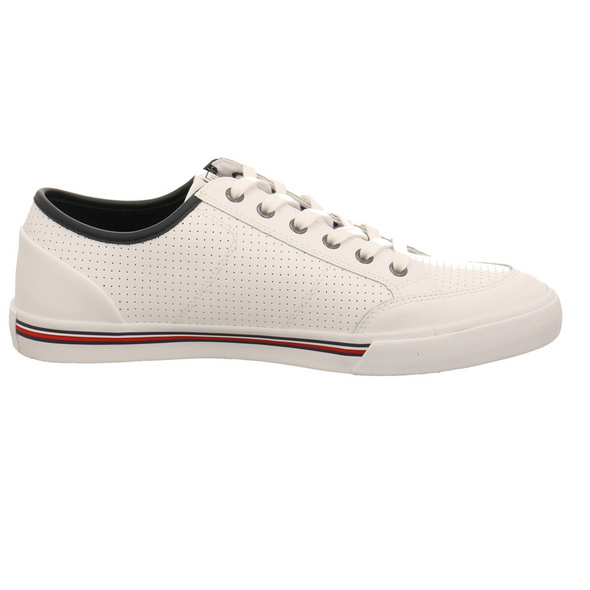 Tommy Hilfiger Herren Core Corporate Leather Weißer Leder/Synthetik Sneaker