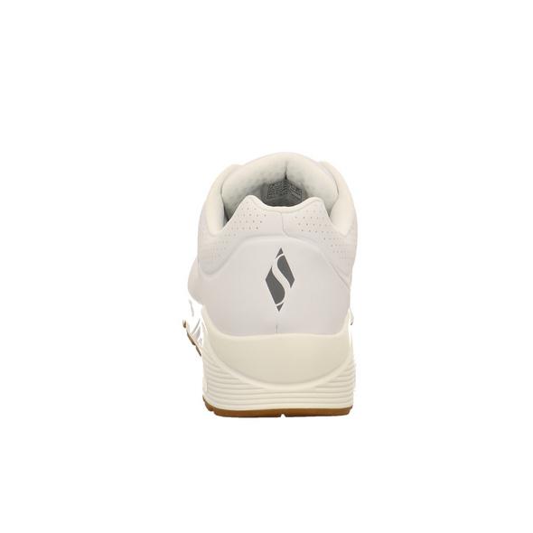 Skechers Herren 52458WHT Weißer Synthetik Sneaker