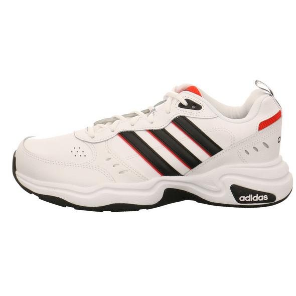 Adidas Herren Strutter Weißer Glattleder Sneaker