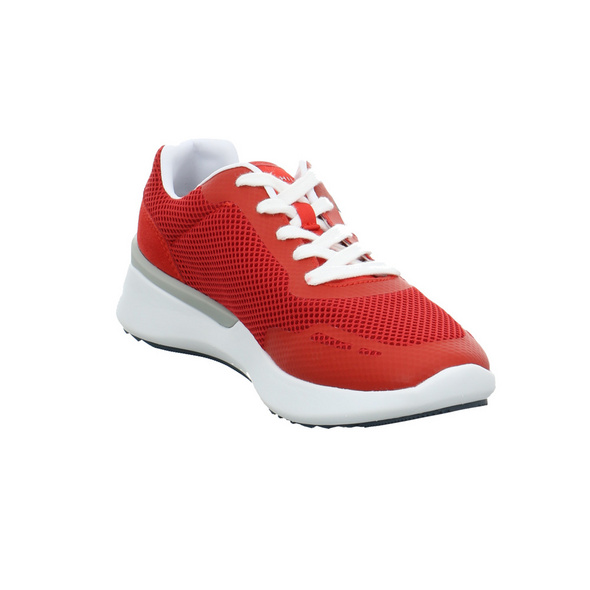 Tommy Hilfiger Herren Lightweight Corporate TH Runner Roter Leder/Textil Sneaker