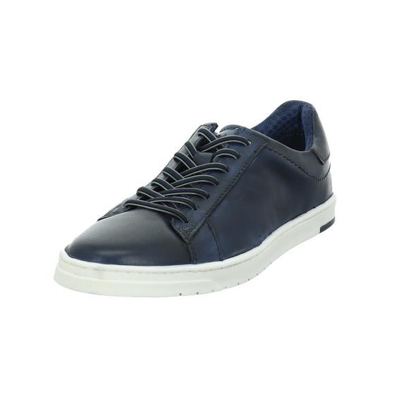 Bugatti Herren Orazio Blaue Glattleder Sneaker