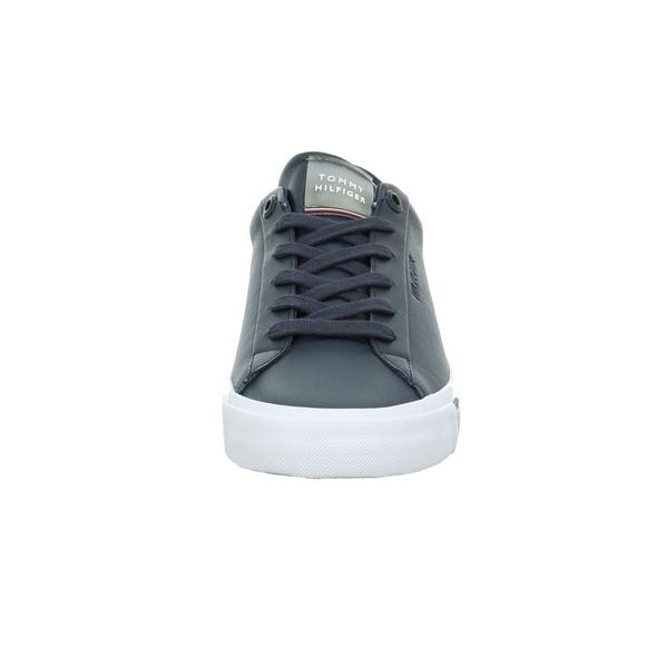 Tommy Hilfiger Herren Corporate Leather Blauer Leder/Synthetik Sneaker