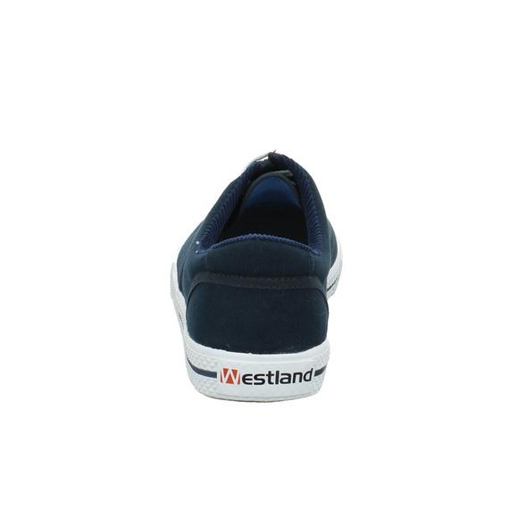 Westland Herren Soling Blau Textil Sneaker