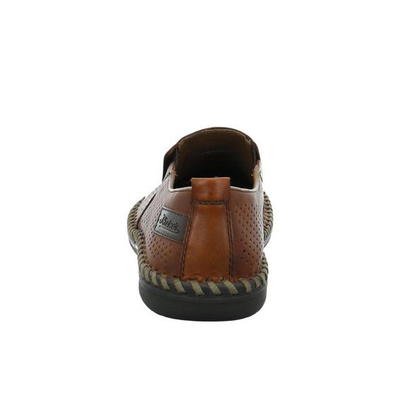 Rieker Herren B2476-24 Brauner Glattleder Slipper
