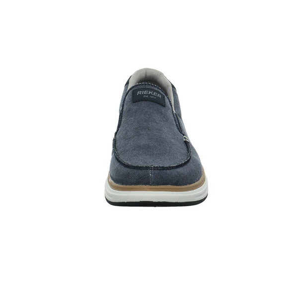 Rieker Herren B6350-14 Blauer Synthetik/Textil Slipper