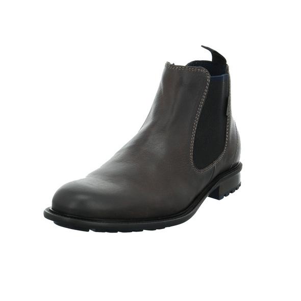 Bugatti Herren Bonifacio Grauer Glattleder Chelsea Boot