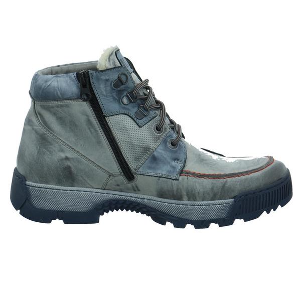 Krisbut Herren 6511-3 Blaue Glattleder Winterboots