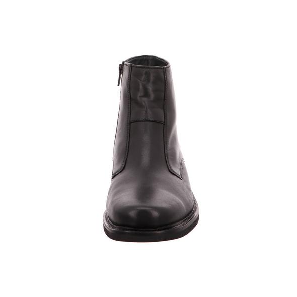 Sioux Landfort Herren Winterstiefel aus Glattleder in schwarz