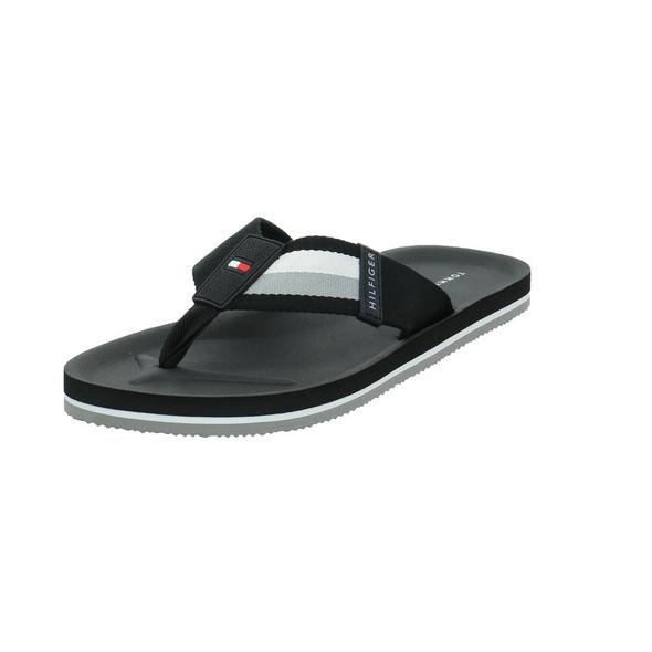 Tommy Hilfiger Herren Sporty Corporate Beach Sandal Schwarzer Synthetik/Textil Badeschuh