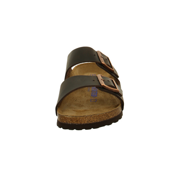 Birkenstock Herren Arizona 452763 Braune Glattleder Pantolette