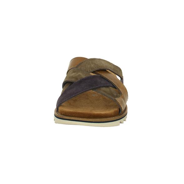 Bugatti Herren Limon Braun/Kombinierte Glatt/Veloursleder Pantolette