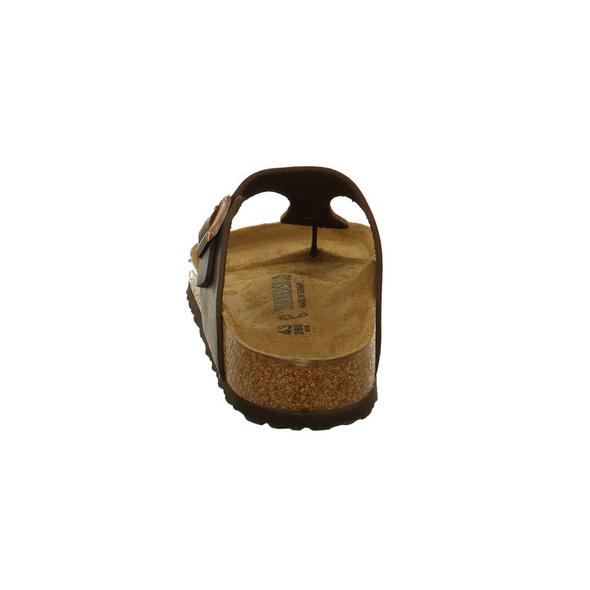 Birkenstock Herren Gizeh 743831 Braune Veloursleder Zehenstegpantolette - Normale Weite