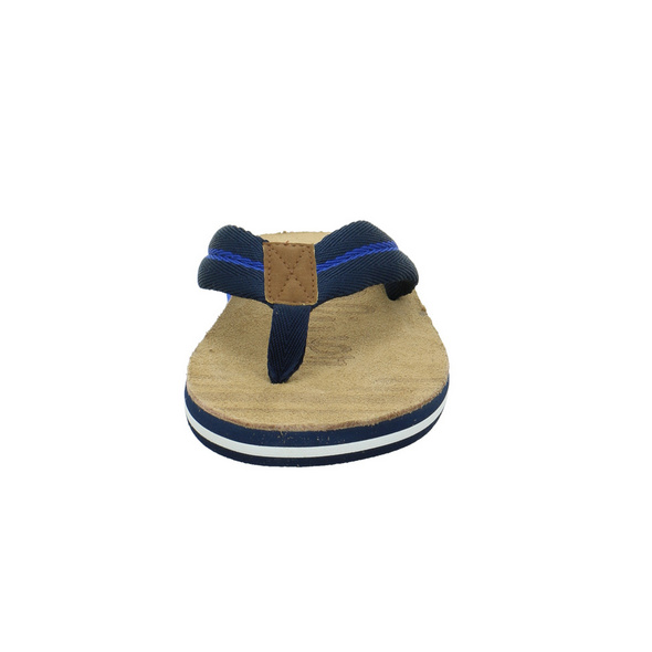 S.Oliver Herren 17200-805 Blaue Textil Zehenstegpantolette