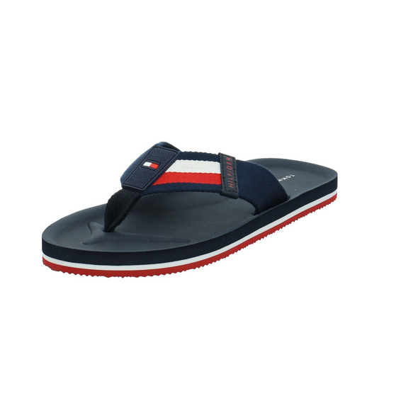 Tommy Hilfiger Herren Sporty Corporate Beach Sandal Blauer Textil Badeschuh