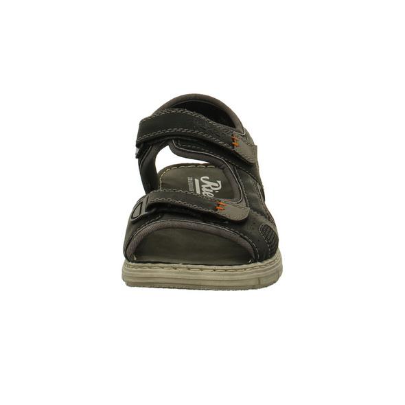 Rieker Herren 25161-01 Schwarze Synthetik/Textil Sandale