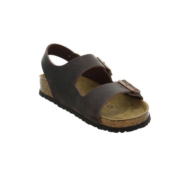 Birkenstock Herren Milano Braune Glattleder Sandale