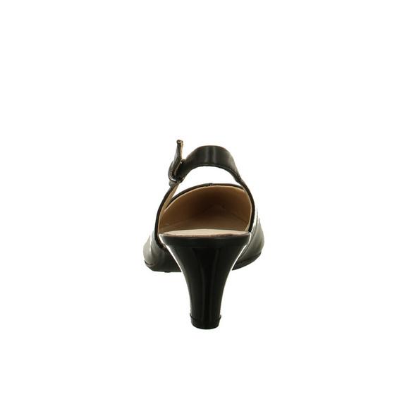Caprice Damen 29699-022 Schwarze Glattleder Sling Pumps