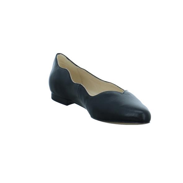 Caprice Damen 24201-022 Schwarze Glattleder Ballerina
