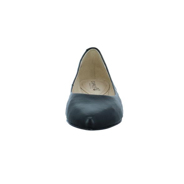 Caprice Damen 22104-022 Schwarzer Glattleder Ballerina