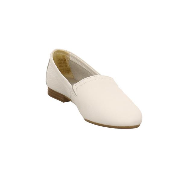 Tamaris Damen 24238-100 Weißer Glattleder Ballerina