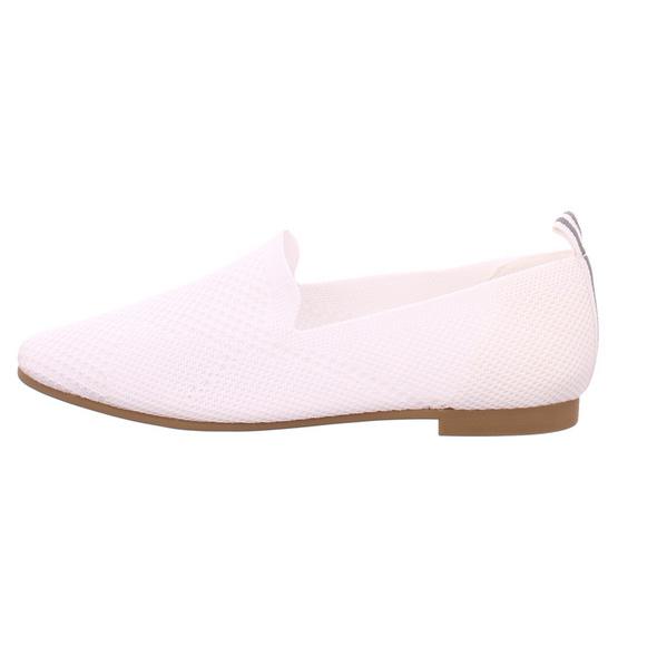 La Strada Damen 18044224504 Weiße Textil Ballerina