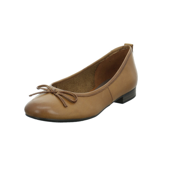 Tamaris Damen 22114-305 Brauner Glattleder Ballerina