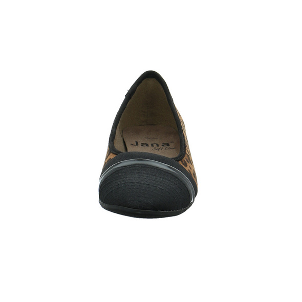 Jana Damen 22165-911 Brauner Synthetik/Textil Ballerina
