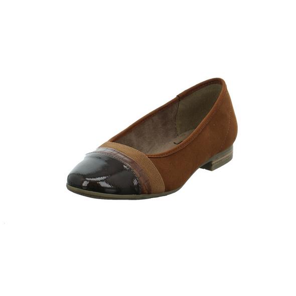 Jana Damen 22165-328 Brauner Synthetik/Textil Ballerina